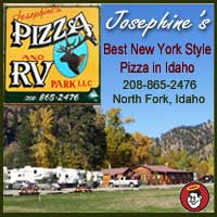 Josephines Pizza and RV Park in North Fork Idaho